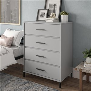 Ameriwood Brewer 4-Drawer Dresser - Grey