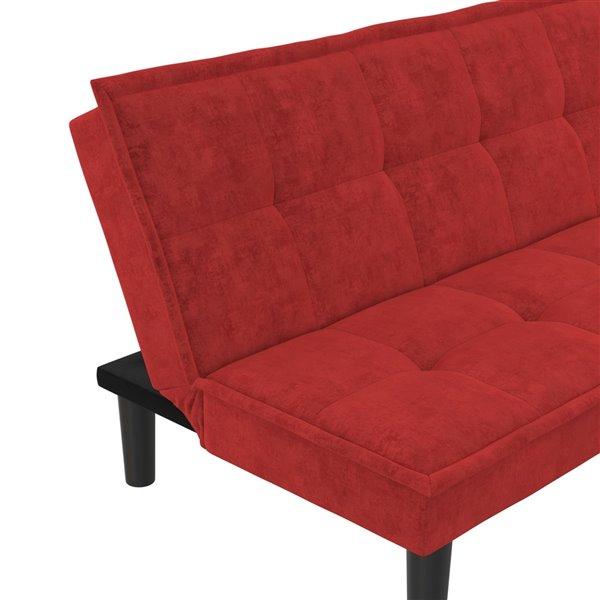 Futon avec mousse à mémoire Otis de Dorel, 70 po x 32 po, rouge