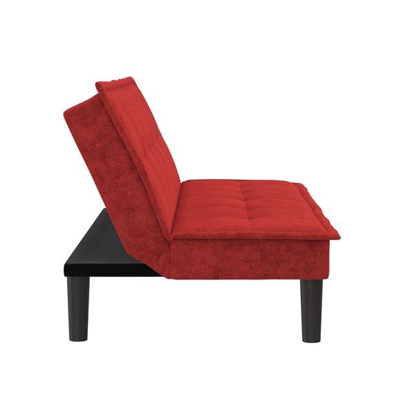 Dorel Otis Memory Foam Futon - 70-in x 32-in - Red