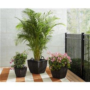 Jardinière intérieur/extérieur Nesting  de Cosco, 3 pièces, brun
