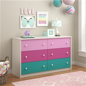 Kaleidoscope 6 Drawer Dresser - Whimsy