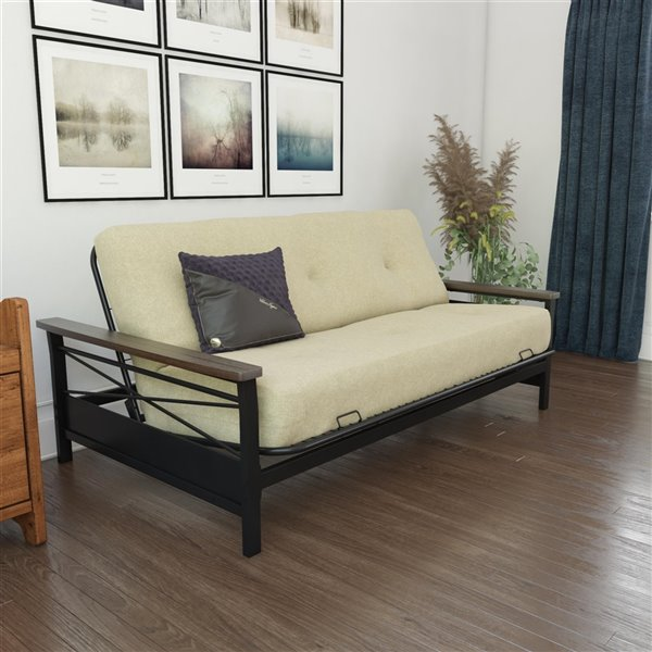 DHP Independently Encased Coil Futon with Foam Mattress - 8-in