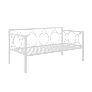 Canapé-lit en métal Rebecca de DHP, blanc