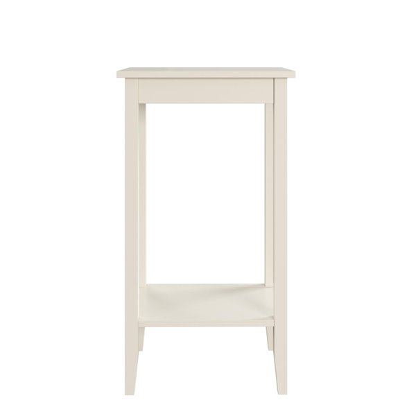 Table d'appoint grand Rosewood de DHP, blanc