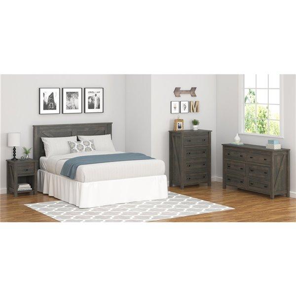 Tête de lit Farmington de Ameriwood, grand lit, chêne