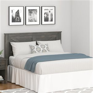 Ameriwood Farmington Headboard - Queen - Weathered Oak