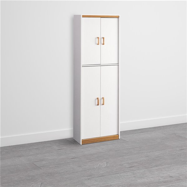 Ameriwood Hannah Kitchen Pantry Cabinet - 72-in - White