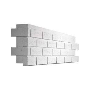 Quality Stone Modern Brick - Left Corner - Simply White - 4-Pack