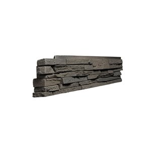 Quality Stone Stacked Stone - Left Corners - Grey Brown - 4-Pack
