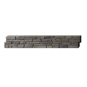 Panneaux Stacked Stone de Quality Stone, mélange de gris, paquet de 4