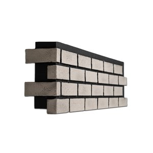Quality Stone Modern Brick - Left Corner - Tuxedo - 4-Pack