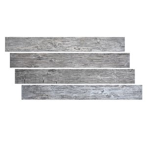 Hourwall Barn Wood Panels - White Wash - 4-Pack