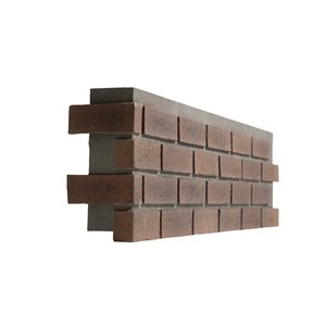 Quality Stone Modern Brick - Left Corner - Terra Cotta - 4-Pack