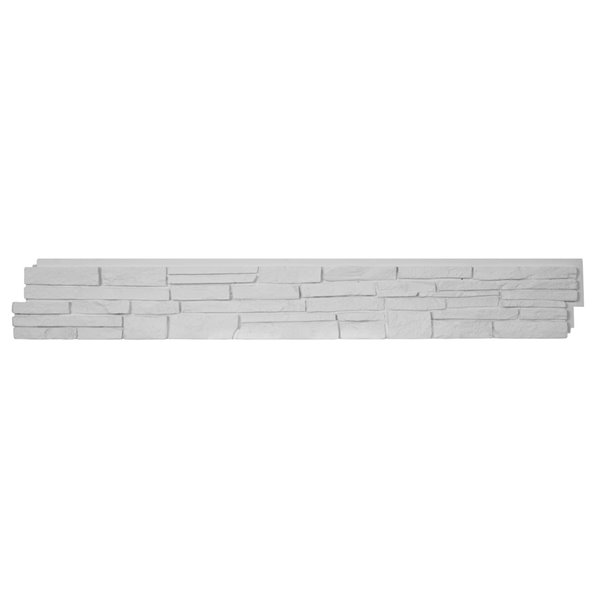 Quality Stone Stacked Stone - Panels - - Simply White - 4-Pack