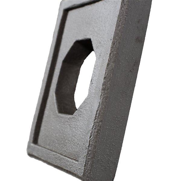 Plaque murale pour fixtures Stacked Stone de Quality Stone, mélange de gris