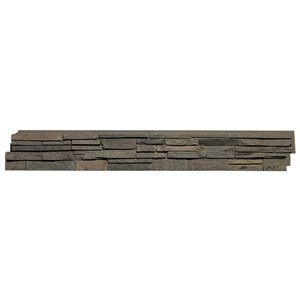 Quality Stone Stacked Stone - Panels - Grey Brown - 4-Pack