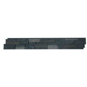 Quality Stone Stacked Stone - Panels - Dark Brown - 4-Pack