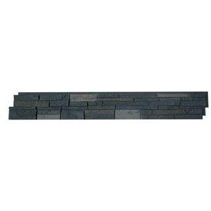 Panneaux Stacked Stone de Quality Stone, brun foncé, paquet de 4