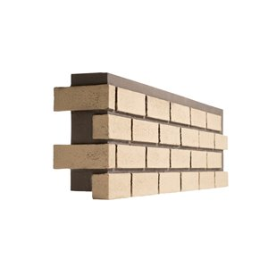 Quality Stone Modern Brick - Left Corner - Old School Yellow - 4-Pack
