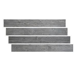 Hourwall Barn Wood Panels - Weathered Grey - 4-Pack