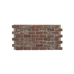 Hourwall Classic Brick Panel - Reclaimed Red - 2-Pack