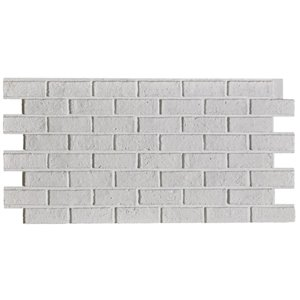 Hourwall Classic Brick Panel - Vintage White - 2-Pack