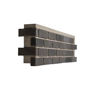 Quality Stone Modern Brick - Left Corner - Shades of Grey - 4-Pack
