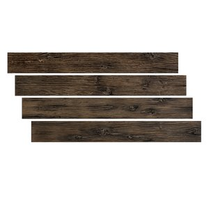 Hourwall Barn Wood Panels - Worn Leather  - 4-Pack