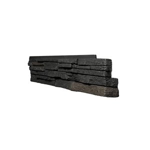 Quality Stone Stacked Stone - Right Corners - Black Blend - 4-Pack