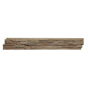 Quality Stone Stacked Stone - Panels - Light Brown - 4-Pack
