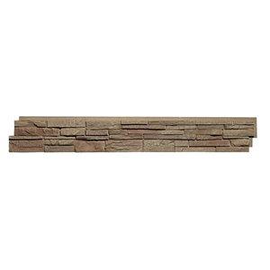 Panneaux Stacked Stone de Quality Stone, brun clair, paquet de 4