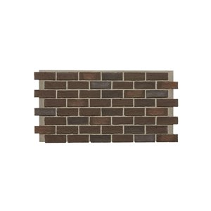 Hourwall Classic Brick Panel - Cellar Brown - 2-Pack