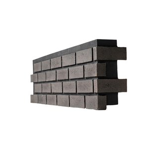 Quality Stone Modern Brick - Right Corner - Pencil Lead - 4-Pack