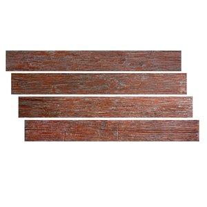 Hourwall Barn Wood Panels - Barn Red - 4-Pack