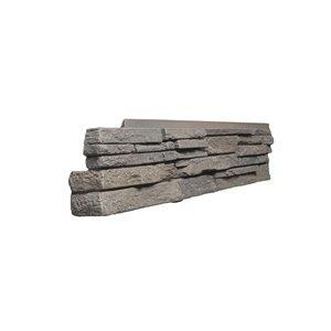 Coins gauche Stacked Stone de Quality Stone, mélange de gris, paquet de