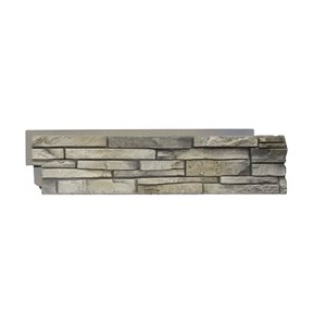 Quality Stone Stacked Stone - Right Corners - Limestone - 4-Pack