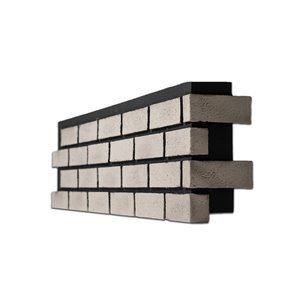 Quality Stone Modern Brick - Right Corner - Tuxedo - 4-Pack