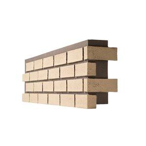 Quality Stone Modern Brick - Right Corner - Old School Yellow - 4-Pack