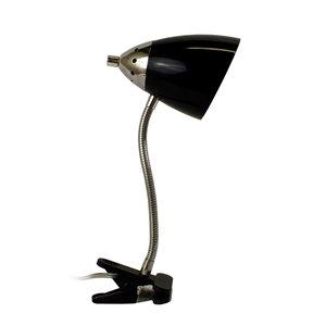 Lampe de bureau LimeLights col de cygne flexible à pince, noir, 18,5 po
