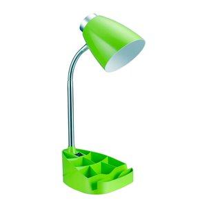 Lampe de bureau LimeLights avec organisateur, verte, 18,5 po