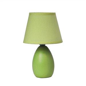 Simple Designs Mini Egg Oval Ceramic Table Lamp - Green - 9.45-in