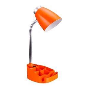 Lampe de bureau LimeLights avec organisateur, orange, 18,5 po