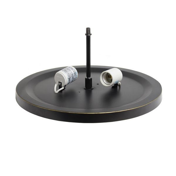 Plafonnier Élipse de Elegant Designs en cristal à 2 Lumière, bronze