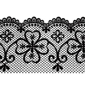 Dundee Deco Self-Adhesive Wallpaper Border for  Mirror and Window - Geometric Latticework Design - 33-ft x 4-in - Black