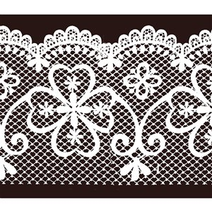 Dundee Deco Self-Adhesive Wallpaper Border for  Mirror and Window - Geometric Latticework Design - 33-ft x 4-in - White