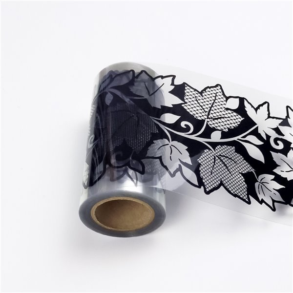 Dundee Deco Self-Adhesive Wallpaper Border for  Mirror and Window - Floral with Leaves Design - 33-ft x 4-in - Black