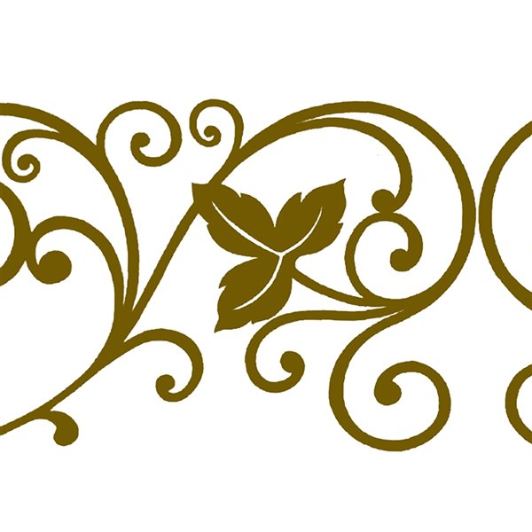 Dundee Deco Self-Adhesive Wallpaper Border for  Mirror and Window - Damask Design - 33-ft x 4-in - Gold
