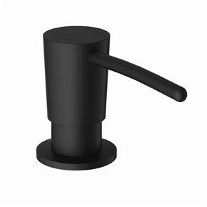 Distributeur de savon de cuisine de VIGO avec réservoir de 10 oz, fini noir, 11 po