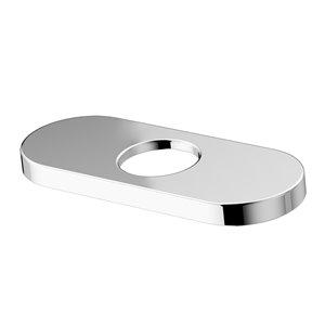 Plaque pour robinet de salle de bain fini chromé, diamètre 5,5 po