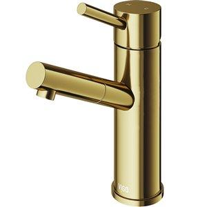 Robinet de salle de bain monotrou Noma de VIGO fini or mat brossé